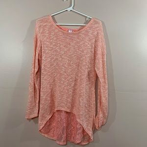 PEACH TUNIC WITH OPEN LACE BACK   127